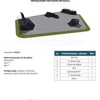 Skatepark modułowy nr 550115 Karta produktowa
