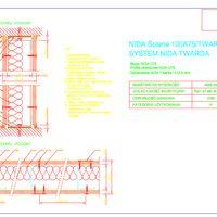 NIDA Ściana 100A75 Twarda Rysunek CAD