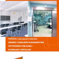 Elementy podłogi dachowej Pióro+Wpust Fermacell - broszura - zdrowie i stabilność w budownictwie użyteczności publicznej
