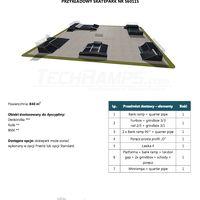 Skatepark modułowy nr 560115 Karta produktowa