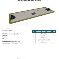 Skatepark modułowy nr 410115 Karta produktowa