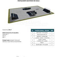 Skatepark modułowy nr 540115 Karta produktowa