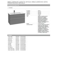 Venticello Vanity unit for washbasin Technical data