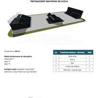 Skatepark modułowy nr 510115 Karta produktowa