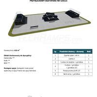 Skatepark modułowy nr 520115 Karta produktowa