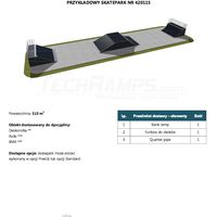Skatepark modułowy nr 420115 Karta prodduktowa