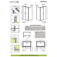 Shower enclosure Nes KDS II Technical drawings