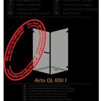 Shower enclosure Arta QL KDJ I Instructions