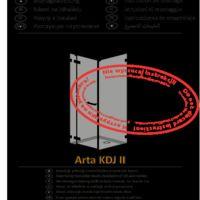 Shower enclosure Arta KDJ II Instructions