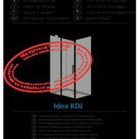 Kabina prysznicowa Idea KDJ Instrukcje