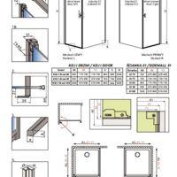 Shower enclosure Nes 8 / Nes KDJ I Technical drawings