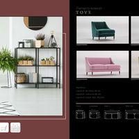 Sofa Tove Technical drawings
