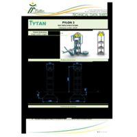 Pylon 3 - for 3 Gym Station Instructions