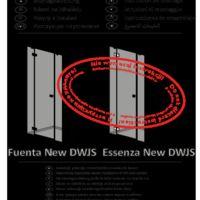 Drzwi wnękowe Essenza New DWJS Rysunki techniczne