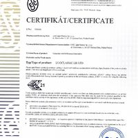LUGCLASSIC ECO LB LED 600x600 P/T Certyfikaty