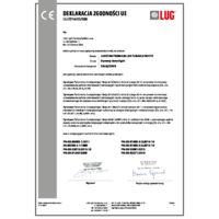 LUGSTAR PREMIUM LED TUNABLE WHITE Certyfikaty