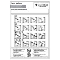 NELSON NL80216BL - Towel rail, 62 cm, black Instructions