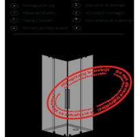 Shower enclosure Furo KDD Instructions