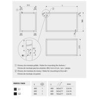 Stelaż wiszący (półka) SR19 Rysunki techniczne