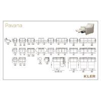 KLER  PAVANA Technical drawings