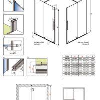 Drzwi wnękowe Furo DWJ Rysunki techniczne