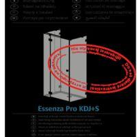 Shower enclosure Essenza Pro KDJ+S Instructions