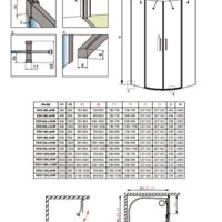 Shower enclosure Idea PDD Technical drawings