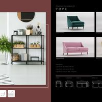 Loveseat Tove Technical drawings
