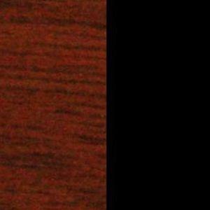 Wybarwienia drewna H8 orzech koniak / czarne ryflowane aplikacje