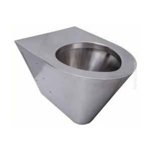 Stainless steel wall-mounted toilet