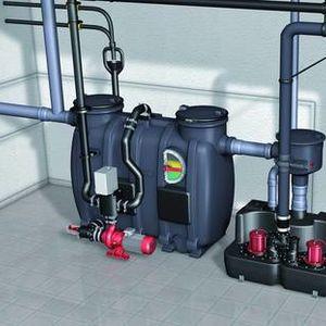 Aqualift F XL, 200 l, twin pump lifting stations