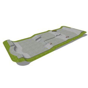 Skatepark 415 m2