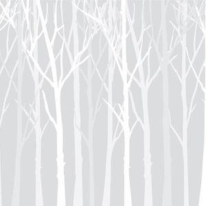 Zimowy las szare tło