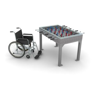 Wheelchair Accessible Foosball Table