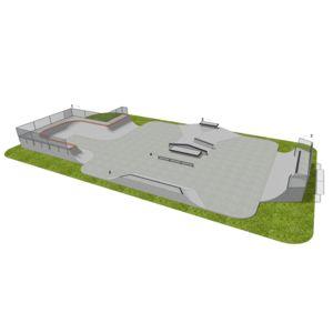 Skatepark LC 450 m2