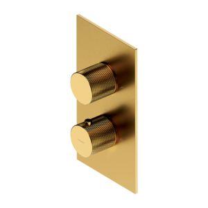 CONTOUR CT8036GLB - termostatyczna bateria prysznicowo-wannowa