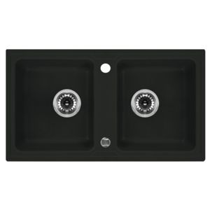 2-bowl sink without draining board Zorba