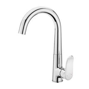 Sink mixer with U spout