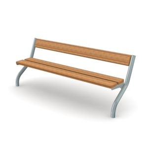 Bench with Back and Curved Legs