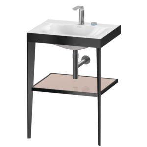Umywalka meblowa c-bonded z metalową konsolą stojąca