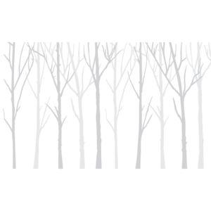Bare Trees białe tło i dwa szare