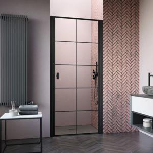 Porte de douche dans en niche Nes 8 / Nes Black DWJ I Factory