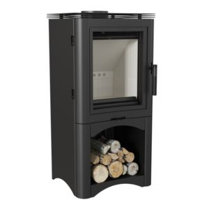 Freestanding STOVE K5 S with a niche for wood