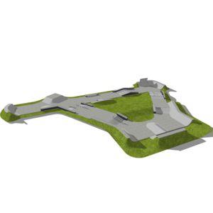 Skatepark 860 m2