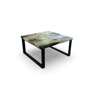 caffe table WOOD with black