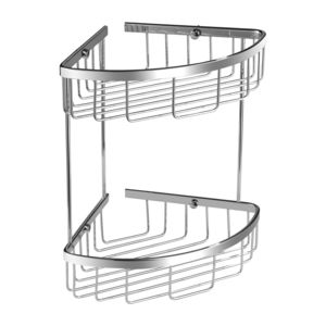 UNI UN3509CR - Corner shower basket, chrome
