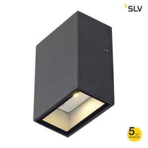 QUAD 1 LAMPA ŚCIENNA, KWADRATOWA, ANTRACYT, LED, 1X3W, 3000K, IP44