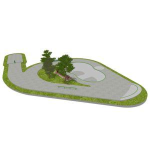 Skatepark 380 m2