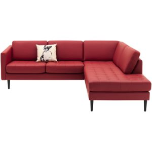 Osaka corner sofa with lounging unit, tufted seat