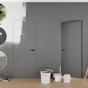 Drzwi Ukryte do malowania tapetowania SANDRA PLUS